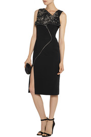 Antonio Berardi Embellished cady dress