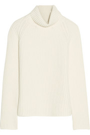 Antonio Berardi Ribbed cashmere turtleneck sweater