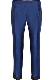 Antonio Berardi Cropped satin tapered pants