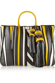 Anya Hindmarch Crazy Maxi Belvedere leather-appliquéd suede tote