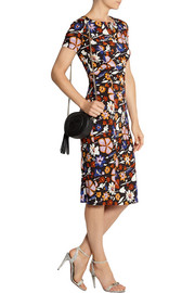 Suno Printed stretch-silk dress