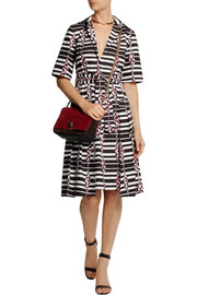 Suno Printed cotton-poplin dress