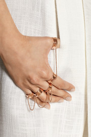 Eddie Borgo Rose gold-plated five-finger ring