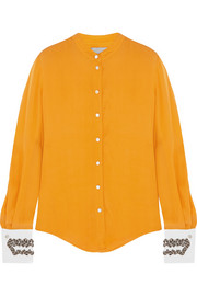 Maiyet Beaded silk-crepe blouse