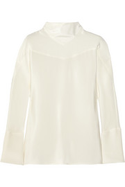 Maiyet Silk-crepe top