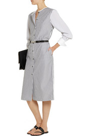 Maiyet Pinstriped cotton-poplin shirt dress