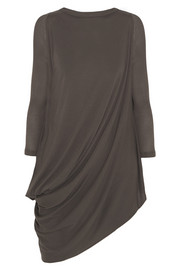 Rick Owens LILIES draped stretch-jersey top