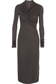 Rick Owens LILIES stretch-jersey midi dress