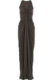 Rick Owens LILIES New Kite draped jersey maxi dress