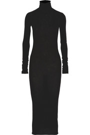 Rick Owens LILIES turtleneck jersey midi dress
