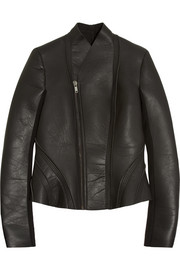 LILIES neoprene-backed leather jacket