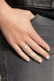 Eddie Borgo Zig Zag set of three silver-plated rings