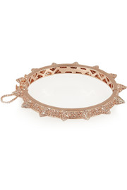 Eddie Borgo Rose gold-plated crystal cone bracelet