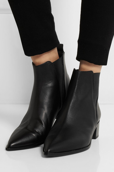 acne studios jensen leather ankle boots net a porter com. Black Bedroom Furniture Sets. Home Design Ideas
