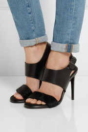 Acne Studios Tillie leather and calf hair sandals