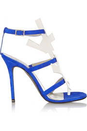 Acne Studios Dalia suede and patent-leather sandals