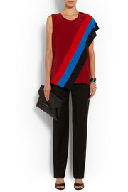 Givenchy Silk crepe de chine top with draped panels