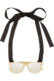 Maison Martin Margiela Gold-tone and silver-tone sunglasses necklace