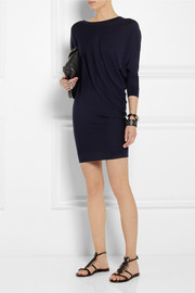 Alexander McQueen Asymmetric wool sweater mini dress