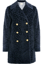 Band of Outsiders Leopard-devoré faux fur coat