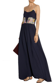 Band of Outsiders Printed silk crepe de chine maxi dress