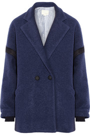 Band of Outsiders Drop-shoulder wool-blend felt coat