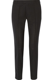 Band of Outsiders Grosgrain-trimmed wool-piqué tuxedo pants