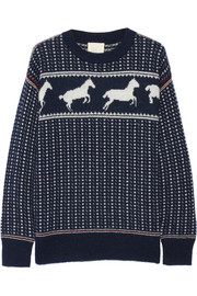 Fair Isle Horses wool-blend sweater