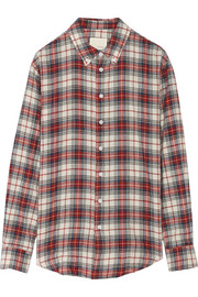 Band of Outsiders Plaid woven cotton shirt