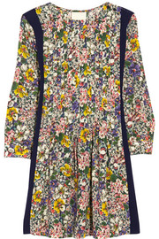 Band of Outsiders Floral-print silk-georgette mini dress