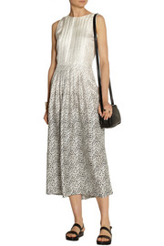 Band of Outsiders Leopard-print silk-twill dress