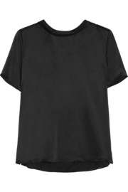 Band of Outsiders Sandwashed silk-satin top