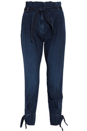 Band of Outsiders High-rise denim tapered pants