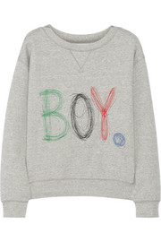 Band of Outsiders Embroidered cotton sweatshirt