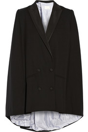 Band of Outsiders Wool-crepe cape