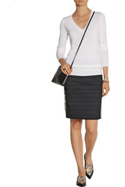 Band of Outsiders Zip-trimmed bandage skirt