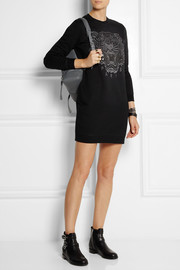 KENZO Tiger embroidered cotton sweatshirt dress
