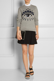 KENZO Embellished cotton-fleece sweatshirt