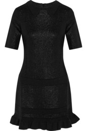 Metallic jacquard mini dress