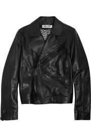 KENZO Flocked leather biker jacket