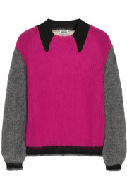 KENZO Color-block mohair-blend sweater