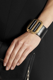 Chloé Drew leather and gold-tone bracelet