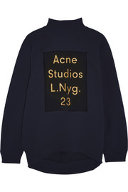 Acne Studios Beta printed cotton-blend jersey sweatshirt