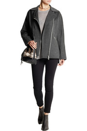 Acne Studios Envier Doublé wool and cashmere-blend biker jacket