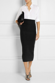 Acne Studios Donna boiled merino wool midi skirt