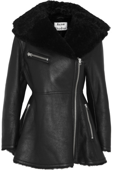 Muse Peplum Shearling Jacket by Acne Studios