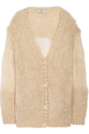 Acne Studios Ono open-knit mohair-blend cardigan