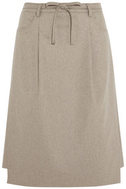 Acne Studios Glide wool-blend felt skirt