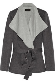 Lisa wool and cashmere-blend felt wrap coat