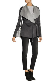 Joseph Lisa wool and cashmere-blend felt wrap coat